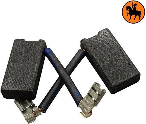 Remplace les pi/èces dorigine 933371-00 /& 940160-03 Balais de Charbon Buildalot Specialty ca-07-35673 pour Black /& Decker P5751-6,3x12,5x23,5mm cable et connecteur Avec ressort