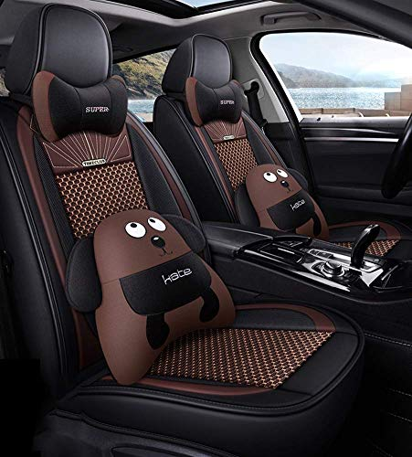 Wsjfc Leather Ice Silk Car Seat Cover - Non-Slip Suede-Lined Universal Fit Seat Cushion for Fabric And Leather Car Seats,C,D: Amazon.co.uk: Sports & Outdoors