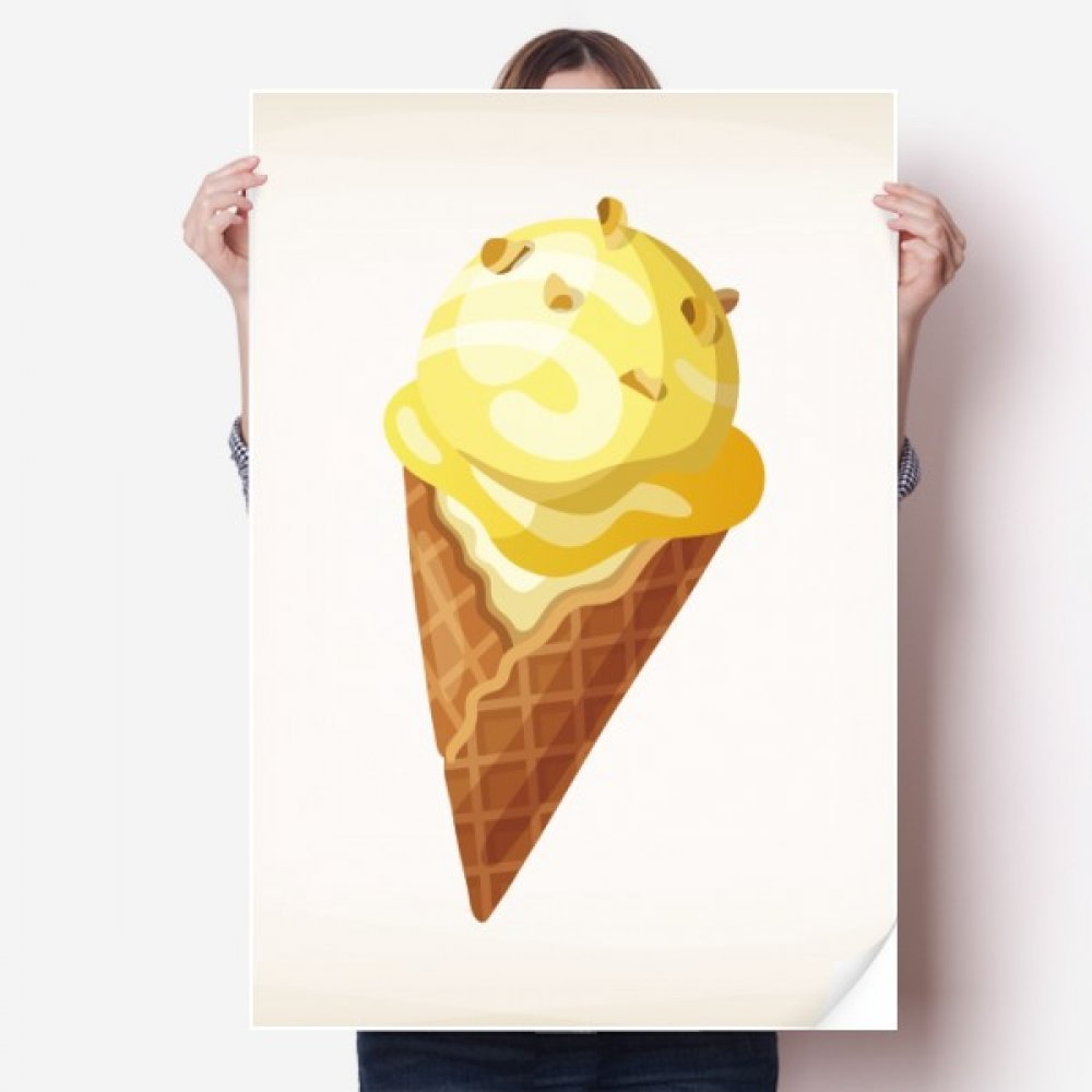 Amazon.com: DIYthinker Yellow Peanut Sweet Ice Cream Pattern Vinyl ...