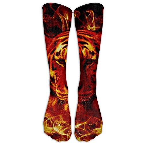 Flaming Tiger Socks Women & Men Casual Design Candy Cotton Stockings