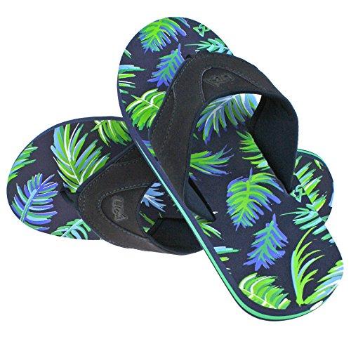 Urban Beach Mens OLOWALU NAVYBLUE Toe Post Flip Flop Beach Sandals -UK 8 (EU 42)