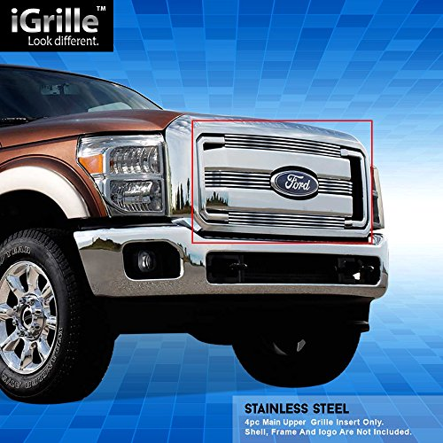 Stainless Steel eGrille Billet Grille Grill For 2011-2016 Ford F-250/F-350/Lariat/King Ranch