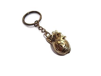 Halo accessoreis Heart keyring - Llavero Mujer marrón Bronze ...