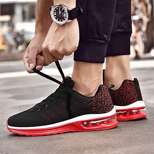 Herren Farben Turnschuhe Outdoors Sneaker Straßenlaufschuhe Rot Laufschuhe Sportschuhe Axcone Damen Schwarz 36EU Fitness Viele Sneaker Air Sports Running 46EU 6xdFwCqY