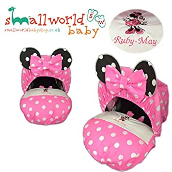 Personalised Minnie Mouse Baby Car Seat Cover: Amazon.co.uk: Baby