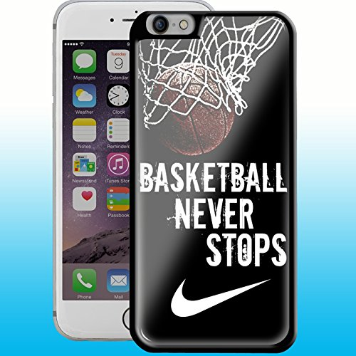 basketball 3 never stop design for Samsung Galaxy case and iPhone case (iPhone 6/6s Plus black case)