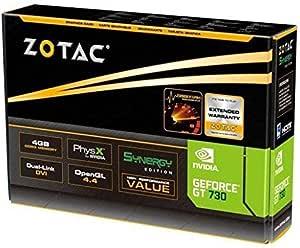 بطاقة العرض المرئي من زوتاك جيفورس جي تي 730 سينرجي ايديشن، 4 جيجابايت دي دي ار 3