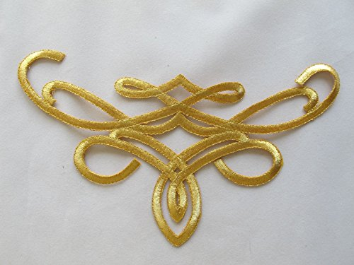 Gold Trim Fringe Boho Art Deco Sew Embroidery Applique Patch by ade_patch