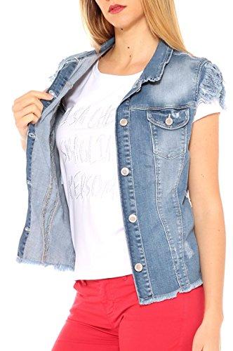 Mujer Abrigo Key di Jeans Para AqXXwOx1t5