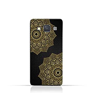 AMC Design Vintage Mandala 1201 Printed Case for samsung Galaxy A3 (2015) - Black & Yellow
