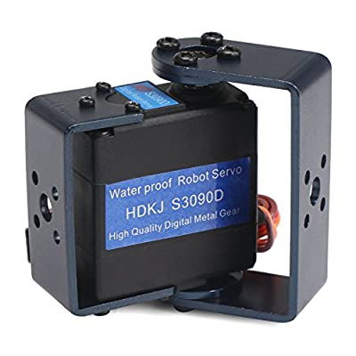 EnPoint® High Torque Standard 9kg Metal Gear Dual Bearings Waterproof Digital Servo, 300° Rotation, 0.16sec/60° 9kg-cm at 6V, 0.14sec/60° 10kg-cm at 7.2V, for Futaba JR Hitec RC Helicopter Robotic