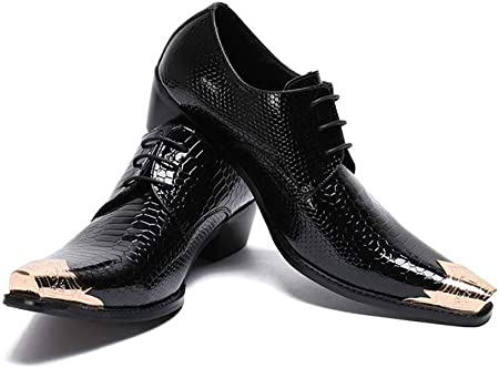Details about  /Nightclub Men Pointy Toe Dress Formal Leather Wedding Oxfords Stage Shoes FK15