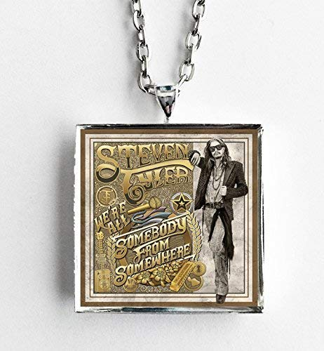 - Album Cover Art Necklace - Steven Tyler - We're All Somebody from Somewhere