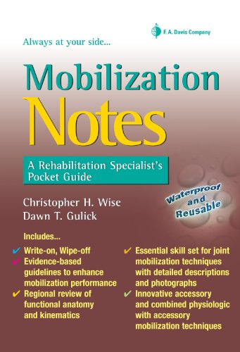Mobilization Notes A Rehabilitation Specialist's Pocket Guide (Davis's Notes)