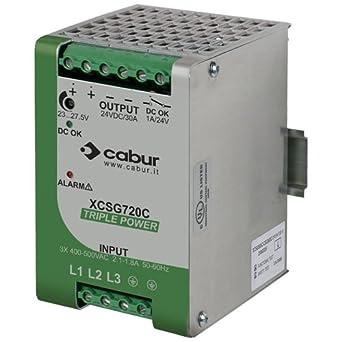 ASI XCSG720C 3-Phase DIN Rail Mount Power Supply, 24 VDC ...