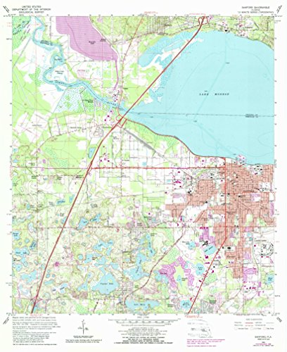 YellowMaps Sanford FL topo map, 1:24000 Scale, 7.5 X 7.5 Minute, Historical, 1965, Updated 1988, 26.9 x 22 in - Paper
