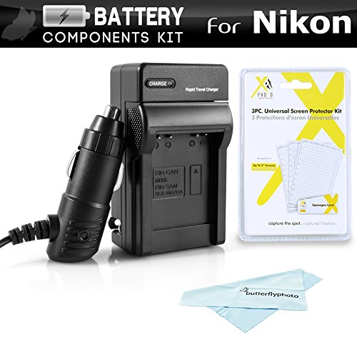 Battery Charger Kit for Nikon COOLPIX S3700, S2900, S33, S7000, S6900, S4300, S6400, S6500, S3200, S32, A300, W100 Digital Camera Includes Ac/Dc Rapid Travel Charger for Nikon EN-EL19 Battery ++