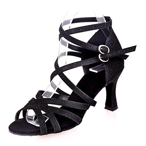 Profesional L Principiante Zapato De Para Alto Tacón Interior yc Mujer Zapatos Black Latín RRwrfqzv