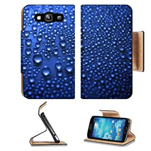 Blue Bubble Wallpaper Dots Water Samsung Galaxy S3 I9300 Flip Cover Case with Card Holder Customized Made to Order Support Ready Premium Deluxe Pu Leather 5 inch (132mm) x 2 11/16 inch (68mm) x 9/16 inch (14mm) MSD S III S 3 Professional Cases Accessories