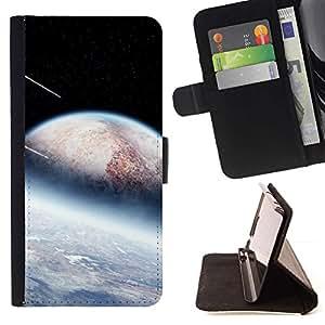 Momo Phone Case / Flip Funda de Cuero Case Cover - Extranjero Ducha Planetas Meteor Stars Espacio Cosmos - LG G2 D800