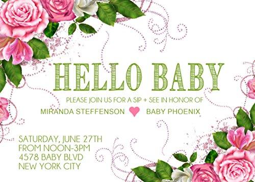 Baby Girl Sip & See Invitations -