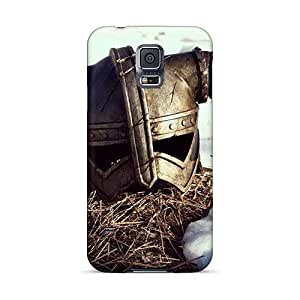Anti-Scratch Hard Cell-phone Cases For Samsung Galaxy S5 With Allow Personal Design Lifelike Skyrim Helmet Pictures AshtonWells