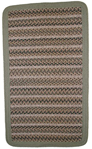 Thorndike Mills BT-10x10SQ-20 Beantown Braided Rug 10' x 10' Square Boston Garden Green