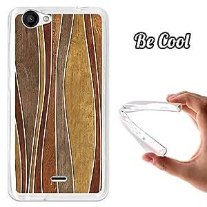 BeCool® - Funda Gel Flexible Wiko Slide 2 Olas Madera Abstractos Carcasa Case Silicona TPU Suave