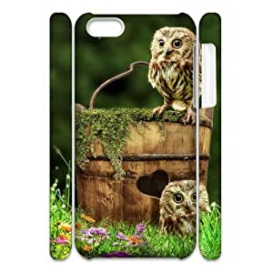linJUN FENGOwl DIY 3D Cover Case for ipod touch 5,personalized phone case ygtg528129