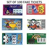 TheGag Fake Lottery Tickets-set of 100-Great gag gift from 6 Designs That Look Real Wholesale Bulk Pack