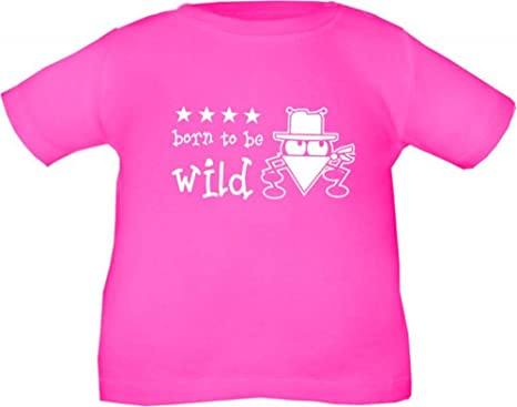 Kinder T-Shirt (Farbe fuchsia) (Größe 60/66) Born to
