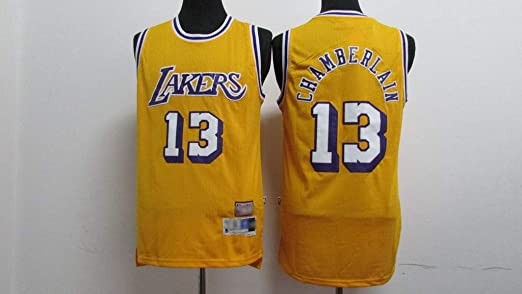 ZXY-FZLF Jersey Lakers # 13 Chamberlain Bordado Camiseta ...