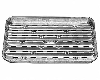 Bandejas de aluminio rígidas, para barbacoa, 34,4x 22