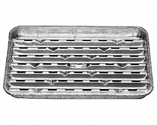 50 Pezzi in alluminio-bistecchiera Grill BBQ xperiz, 34,4 x 22,4 cm, riutilizzabile/questa vaschette in alluminio protegge il tipico carbone-restano. Il cibo non si attacca la ciotola e può girare bene. Grasso che non gocciola in la brace calde e impedisc
