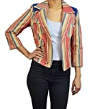 G.E.T. Women's Striped Blazer Size Medium in Rust Color for sale  Delivered anywhere in USA