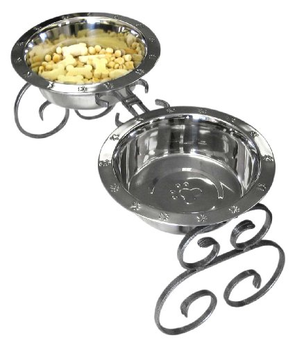 QT Dog 3-Quart Classic Stand, Silver, 10-Inch, My Pet Supplies