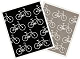 Trendy Tripper Swedish Dishcloth, BICYCLES BIKES Assorted Colors (2, GREY + BLACK)