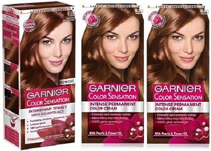 3 x Garnier color color intensidad 6,35 Chocolate Marrón ...