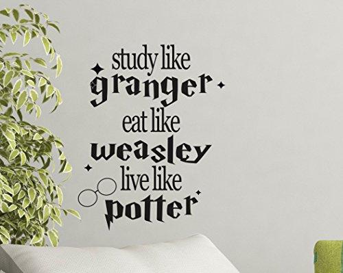 study like granger eat like weasley live like potter wall