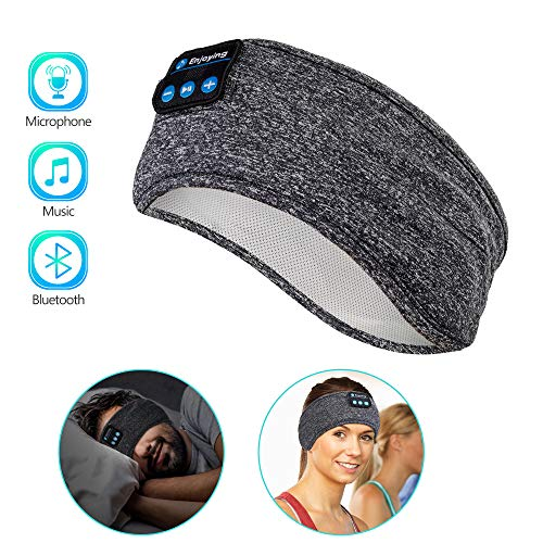Sleep Headphones Wireless, Perytong Bluetooth Sports Headband Headphones with Ultra-Thin HD Stereo Speakers Perfect for Sleeping,Workout,Jogging,Yoga,Insomnia, Air Travel, Meditation ()
