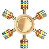 Premsons R188 Top Grade Bearing Metal Fidget Spinner, Gold