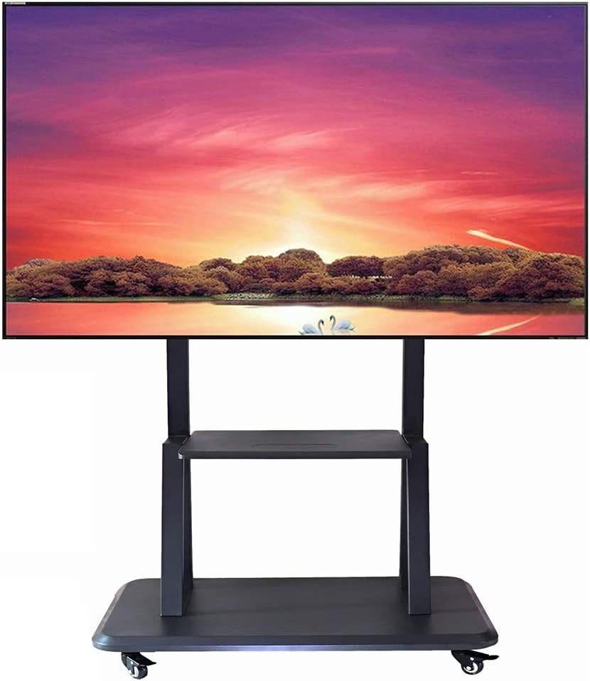 ZAQI Soporte TV Trole Soporte Universal for TV móvil con 2 ...