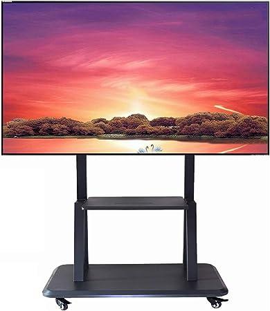 ZAQI Soporte TV Trole Soporte Universal for TV móvil con 2 estantes, Carro de TV con