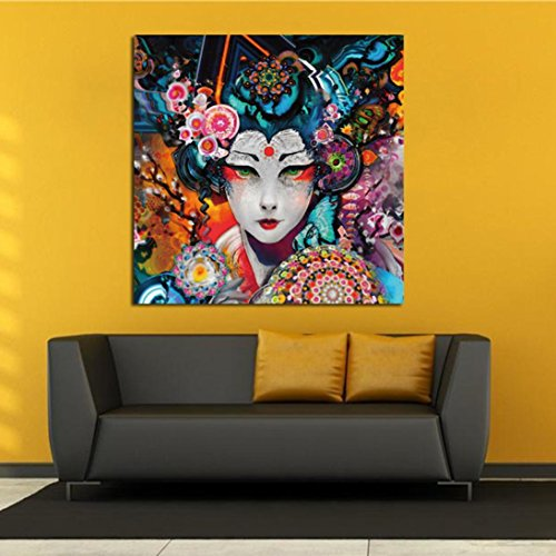 Abstract Colorful Dog Canvas Oil Painting Unframed Huge Wall Art Home Decor for Living Room (Large)