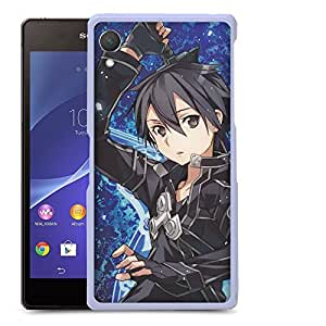 Case88 Designs Sword Art Online SAO Kazuto Kirigaya Kirito Protective Snap-on Hard Back Case Cover for Sony Xperia Z2