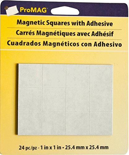 Magnum Magnetics-Corporation ProMAG Square Flexible Magnets with Adhesive, 1