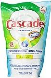 Cascade Actionpacs With Extra Bleach Action Lemon Scent Dishwasher Detergent 16 Count
