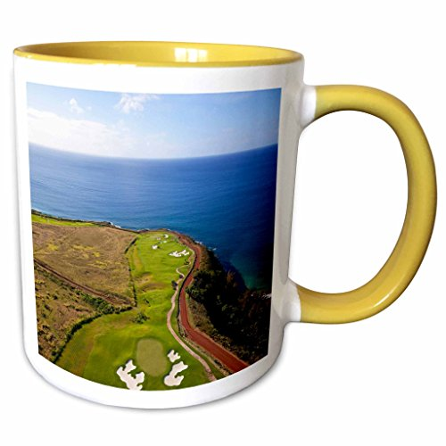 3dRose Danita Delimont - Hawaii - Kukuiula, Poipu, Kauai, Hawaii - US12 DPB2442 - Douglas Peebles - 11oz Two-Tone Yellow Mug - Kukuiula Hawaii