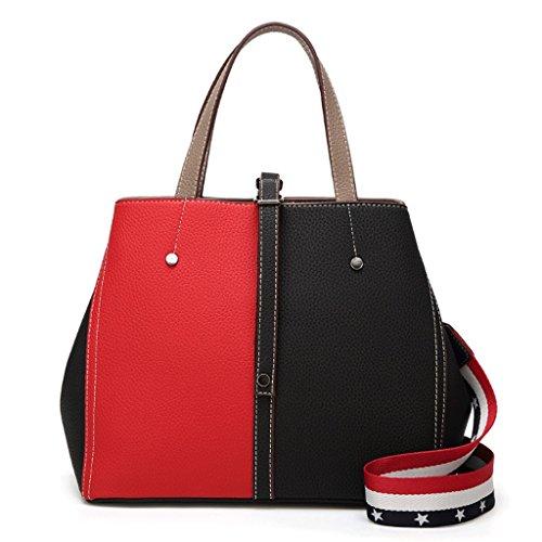 PU de sac couleur sac à Handbag main Couleur à Femmes bandoulière A 2 sac seau sac couture sac nIwn74