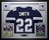 Emmitt Smith Autographed Blue Cowboys Jersey